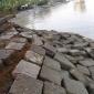 বরিশাল শহর রক্ষা বাঁধ প্রকল্পে অনিয়ম : নিন্মমানের বালু ও পাথর দিয়ে হচেছ কাজ