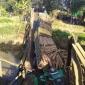 দীঘিনালা-লংগদু সড়কে কাঠ বোঝাই ট্রাকের ভাড়ে বেইলী ব্রীজ ভেঙে সড়ক যোগাযোগ বন্ধ
